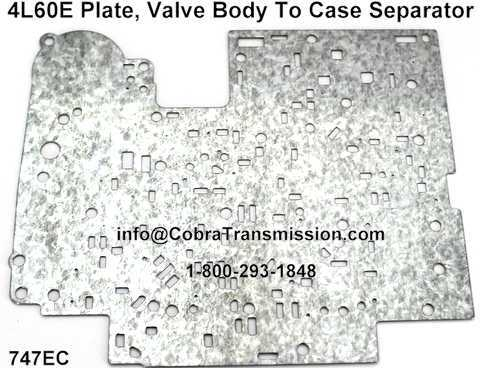 4L60E Plate, Valve Body To Case Separator