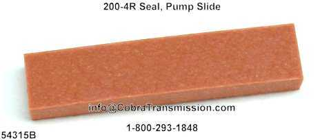 200-4R Seal, Pump Slide