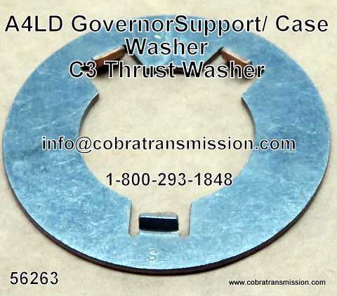 A4LD Thrust Washer, Between Governor Support & Case