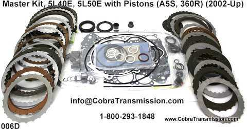 5L40 E 5L50E Kit Master w pistons 4l40e, 5l40e (m82), 5l50e (m22) , cobra transmission GM 4L60E Transmission at couponss.co