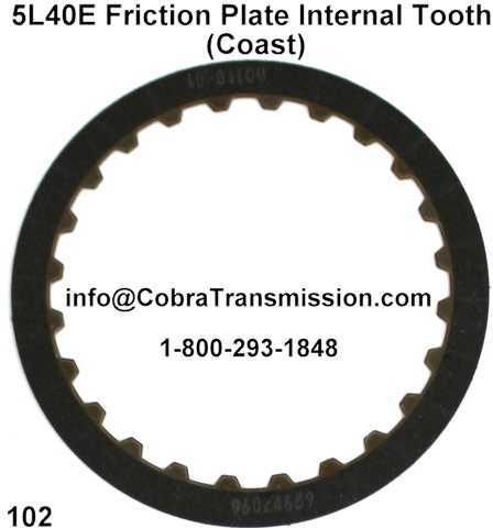 5L40E Friction Plate Internal Tooth (Coast)