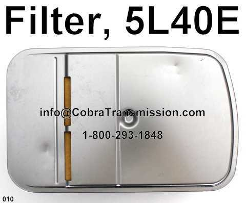5L40E Filter, Cadillac w/ Neck Spacer, Flat Inlet