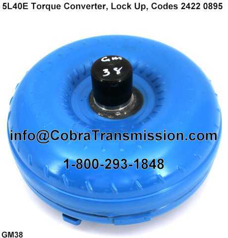 5L40E/5L50E Torque Converter, Lock Up, Codes 2422 0895