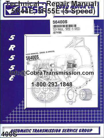 Technical - Repair Manual; 5R44E, 5R55E (5 Speed)