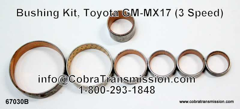 Bushing Kit, Toyota GM-MX17 (3 Speed)
