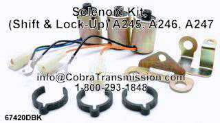 Solenoide, (Shift & Lock-Up) A245, A246, A247