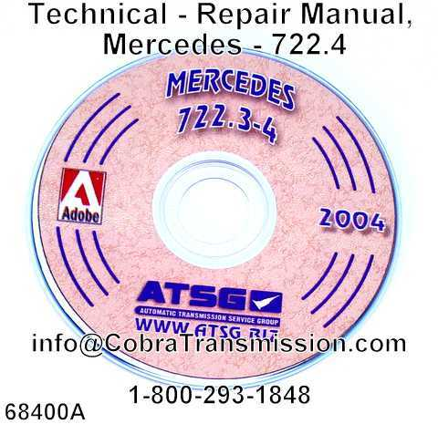 Technical - Repair Manual, Mercedes - 722.4