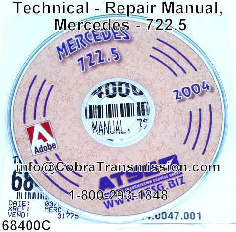 Technical - Repair Manual, Mercedes - 722.5
