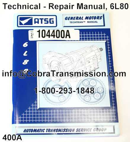 Technical - Repair Manual, 6L80