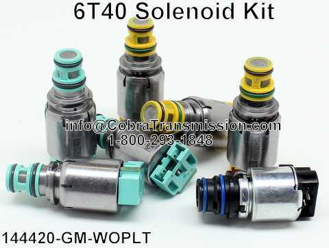 6T40 GM Solenoid Kit - Colord Connectors