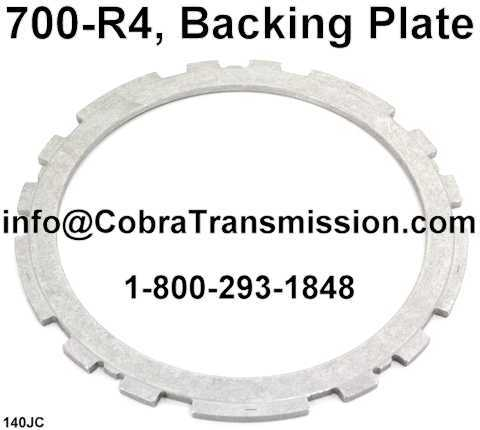 700-R4, Backing Plate