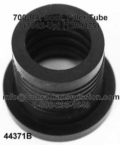 700-R4, Boot, Filler Tube