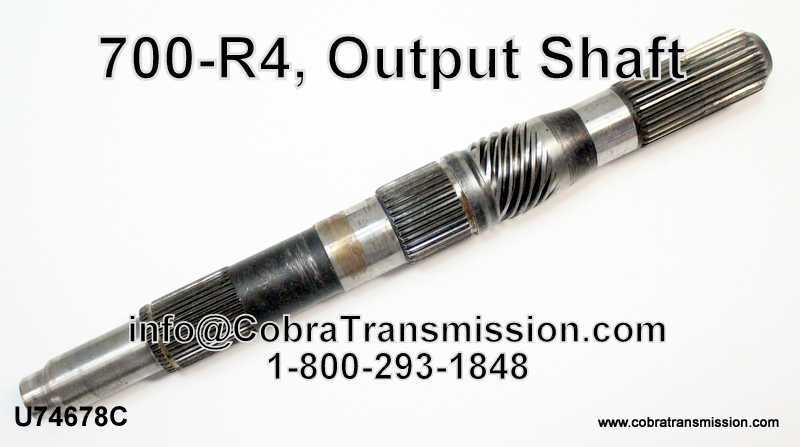 "700-R4, Output Shaft, 13.750"" Long (4wd Exc 2.8L)"