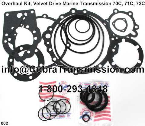 Overhaul Kit, Velvet Drive Marine Transmission 70C, 71C, 72C (19