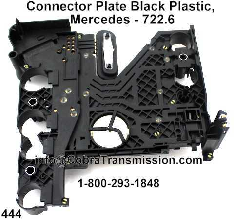 Connector Plate Black Plastic, Mercedes - 722.6