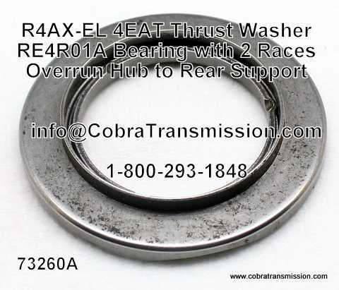 RE4R01A Bearing w/ 2 Races, Overrun Hub to Rear Support