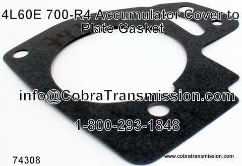 4L60E, Gasket, Accumulator Cover to Plate