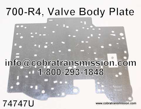 700-R4, Valve Body Plate (Universal - Replaces All 700-R4's)