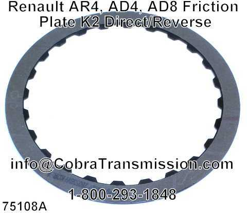 Renault AR4, AD4, AD8 Friction Plate K2 Direct/Reverse