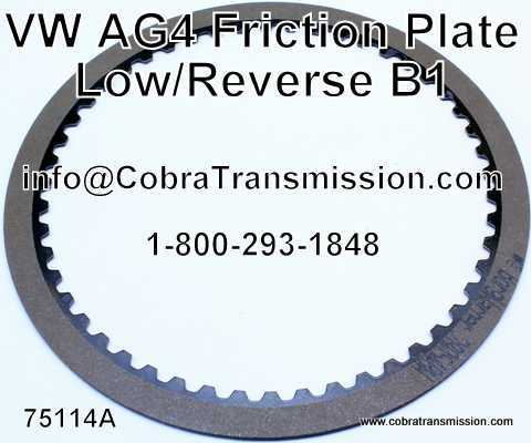 VW AG4, Friction Plate, Low/ Reverse (B1)