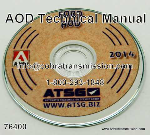 Technical - Repair Manual, AOD (FIOD)