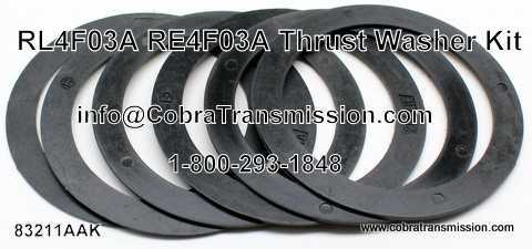 Thrust Washer Kit, Nissan RL4F03A, RE4F03A (4 Speed)