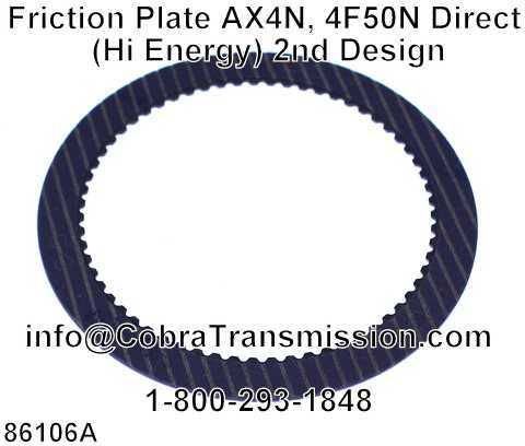 Friction Plate AX4N, 4F50N Direct (Hi Energy) 2nd Design