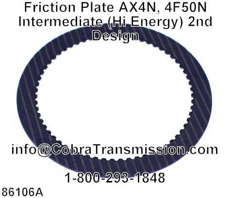 Friction Plate AX4N, 4F50N Intermediate (Hi Energy) 2nd Design