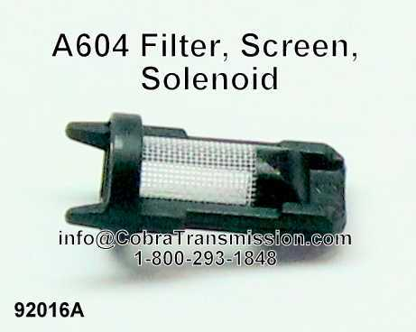 A604 Filter, Screen, Solenoid