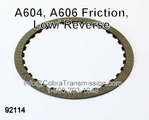 A604, A606 Friction, Low/ Reverse