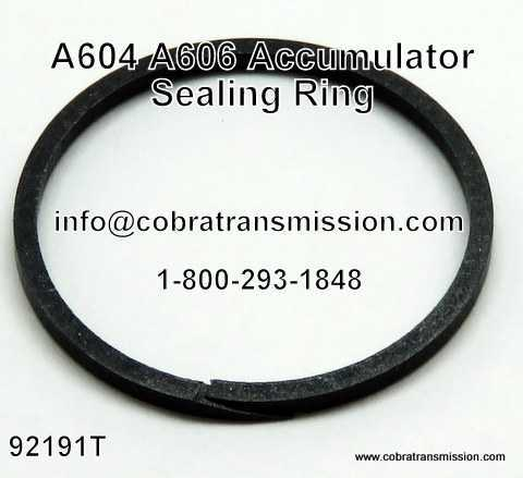 A604, A606 Sealing Ring, Accumulator