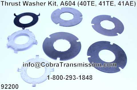 Thrust Washer Kit, A604 (40TE, 41TE, 41AE)