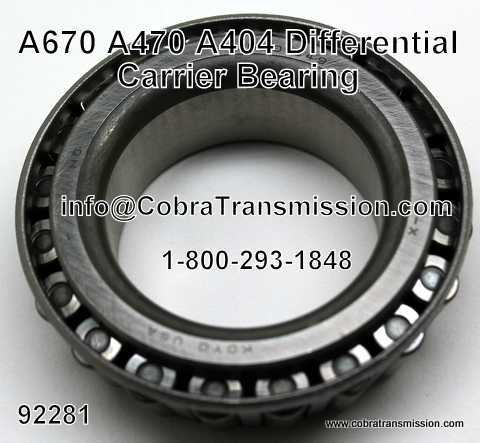 Bearing, Differential Carrier, A404 (30TH), A413, A470, A670 (31