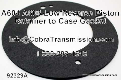 A604, A606 Gasket, Low/ Reverse Piston Retainer to Case