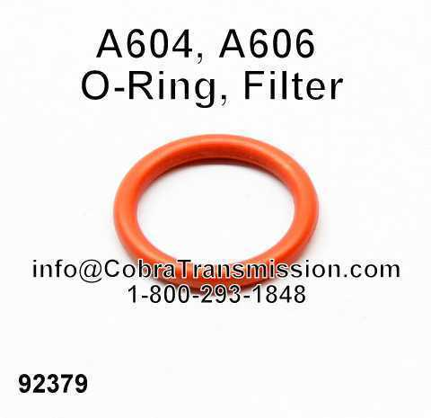 A604, A606 O-Ring, Filter
