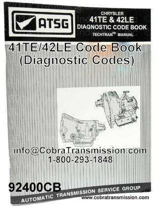 41TE/42LE Code Book (Diagnostic Codes)