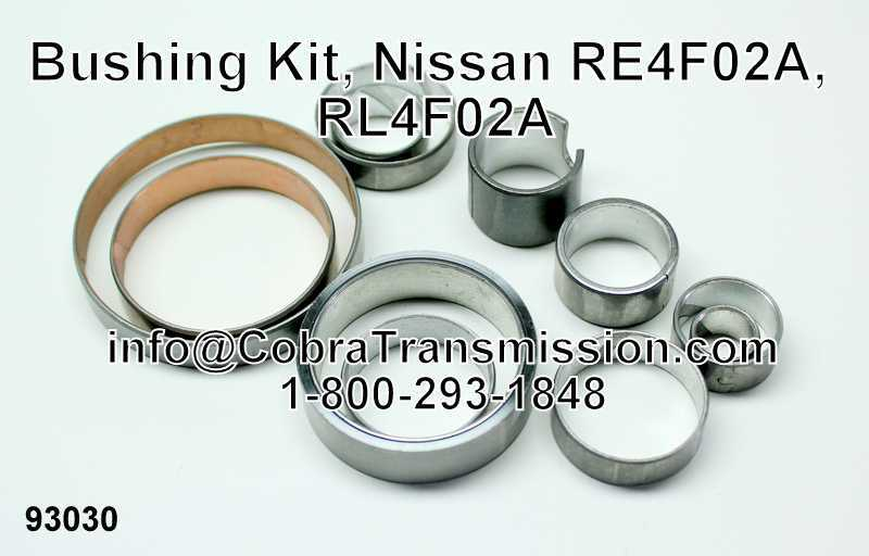Bushing Kit, Nissan RE4F02A, RL4F02A