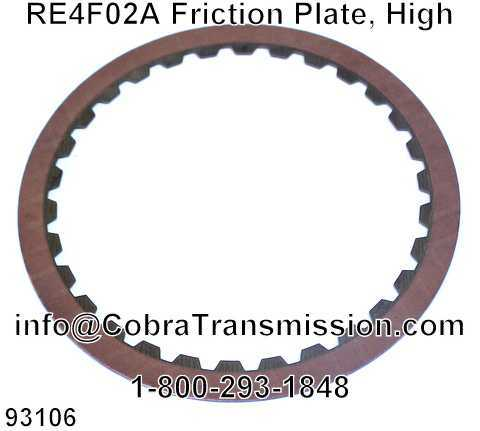 RE4F02A Friction Plate, High