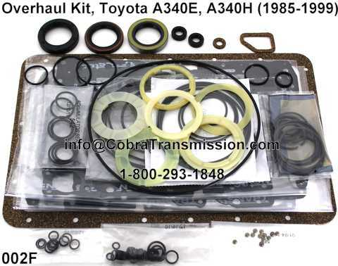 Overhaul Kit, Toyota A340E, A340H (1985-1999)
