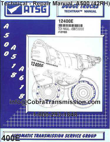 Technical - Repair Manual, A500 (42RH)
