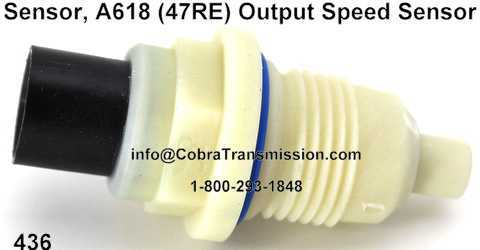 Sensor, A618 (47RE) Output Speed Sensor