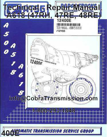 Technical - Repair Manual, A618 (47RH, 47RE, 48RE)