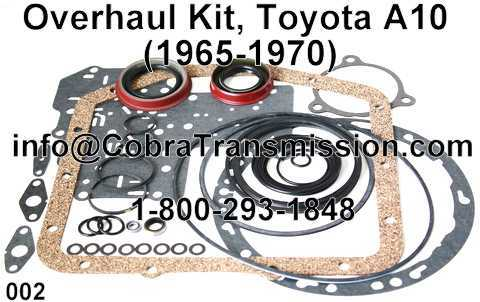 Overhaul Kit, Toyota A10 (1965-1970)