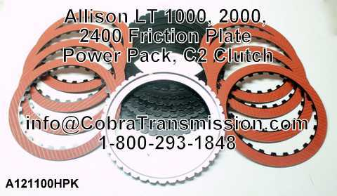 Allison LT 1000, 2000, 2400 Placa de Fricción Power Pack, Embra
