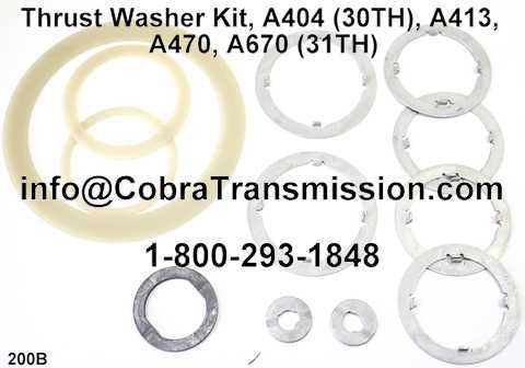 Thrust Washer Kit, A404 (30TH), A413, A470, A670 (31TH)