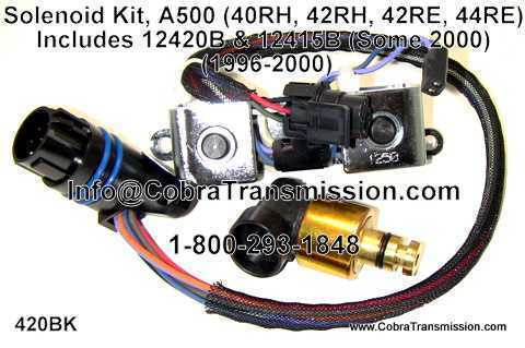 Solenoid Kit, A500 (40RH, 42RH, 42RE, 44RE)