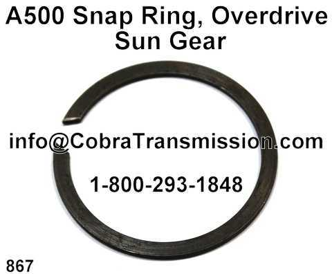 A500 Snap Ring, Overdrive Sun Gear