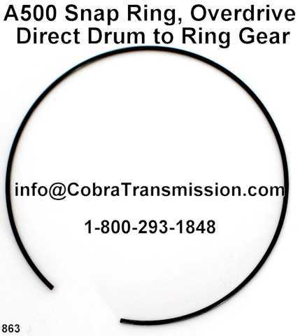 A500 Snap Ring, Overdrive Direct Drum to Ring Gear