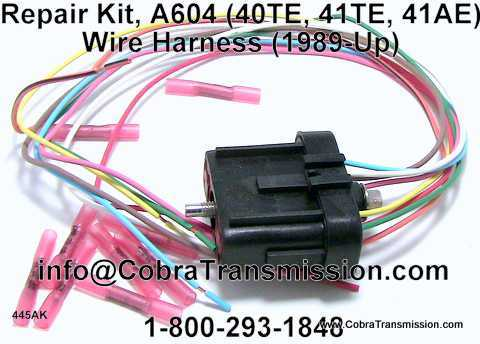 repair kit a604 40te 41te 41ae wire harness 92445ak 46 99 rh cobratransmission com Wiring Harness Tool Kit Lt1 Wiring Harness