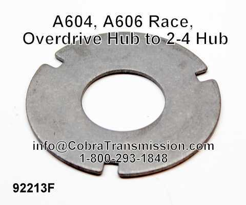 A604, A606 Race, Overdrive Hub to 2-4 Hub